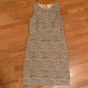 J. Crew leopard print dress